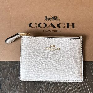Coach Bags - {COACH} Cardholder. Creamy white with gold detail.